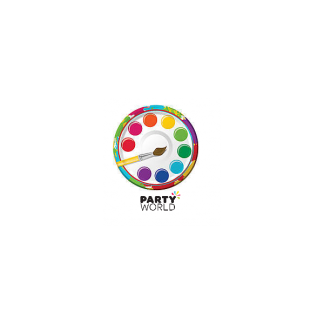 Paint Party Paper Plates 7in (8)
