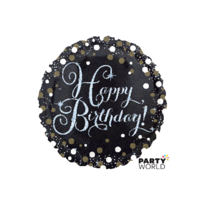 Sparkling Happy Birthday Foil Balloon