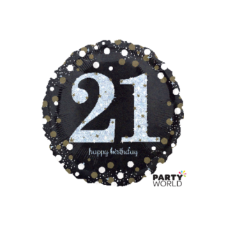 Sparkling 21st Birthday Foil Balloon