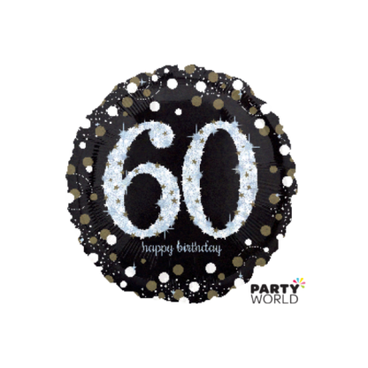 Sparkling 60th Birthday Foil Balloon