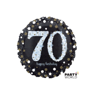 Sparkling 70th Birthday Foil Balloon