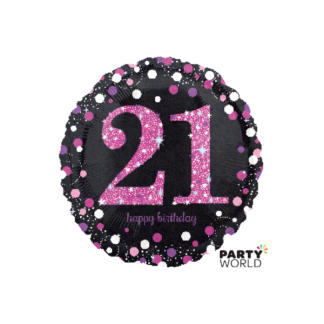 Pink Celebration 21st Birthday Foil Balloon