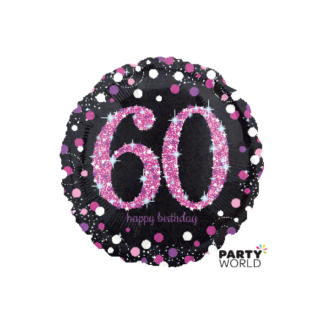 Pink Celebration 60th Birthday Foil Balloon