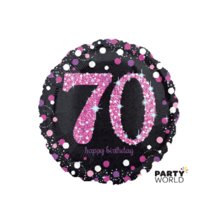 Pink Celebration 70th Birthday Foil Balloon