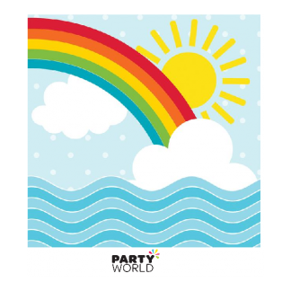 Noah's Ark Rainbow Beverage Napkins (16)