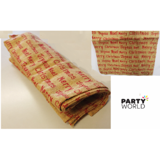 Christmas Hessian Table Runner / Wrap (0.4 x 5m)