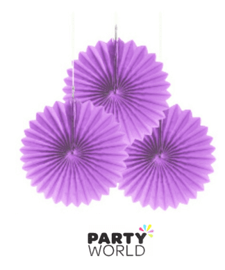 lavender purple mini fans