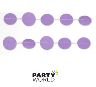 purple dot garland