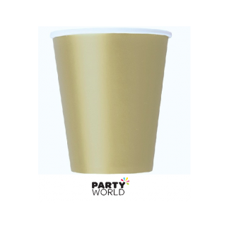 Antique Gold Paper Cups (8)