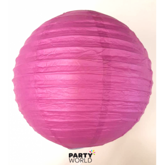 Paper Lanterns Hot Pink/Purple 9.5 inch (3)