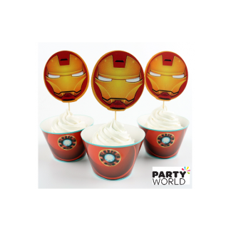 Ironman Cupcake Wrappers And Toppers (12)