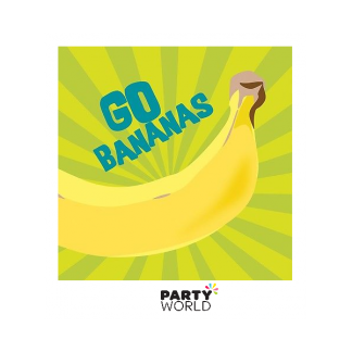 "Monkeyin Around ""Go Bananas"" Beverage Napkins (16)"
