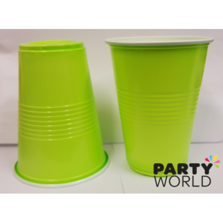 Lime Green Plastic Cups (10)
