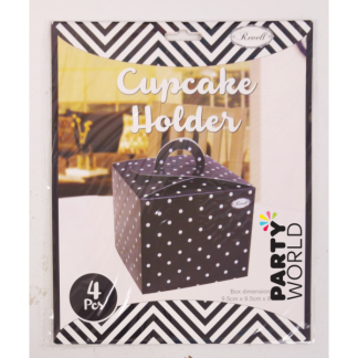 Black Polka Dot Cupcake Holders (4)