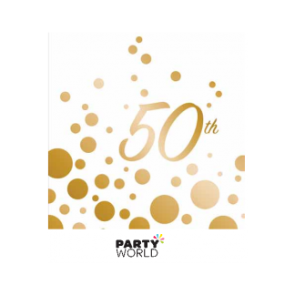 50th Sparkle & Shine Luncheon Napkins (16)