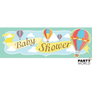 Up, Up & Away Giant Party Banner 'Baby Shower'