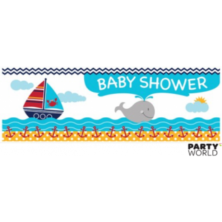 Ahoy Matey Giant Party Banner 'Baby Shower'