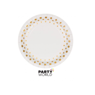 Sparkle & Shine Paper Plates Gold 7in (8)