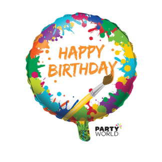 Art Party Birthday Foil Balloon