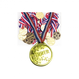 Gold Winner Medals (5pk)