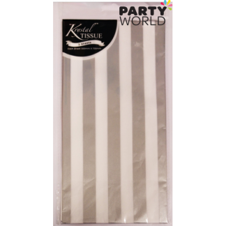 Silver Stripes Tissue Paper (3 sheets)
