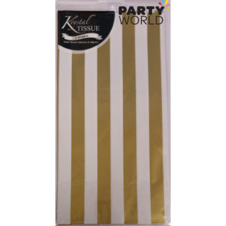 Gold Stripes Tissue Paper (3 sheets)