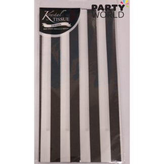 Black Stripes Tissue Paper (3 sheets)