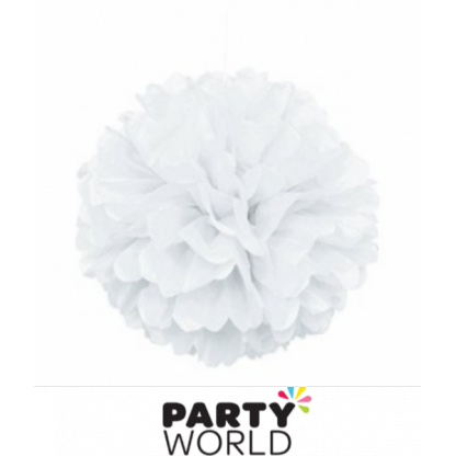 16in Puff Ball - White