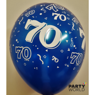 Qualatex 70th Pearl Sapphire Blue Balloons - 11inch (5)