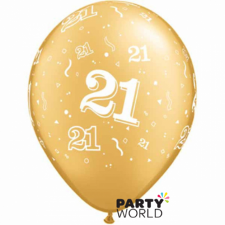 Qualatex 21st Gold Balloons - 11inch (5)