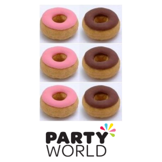 Donut Erasers In Zip Bag (6pk)