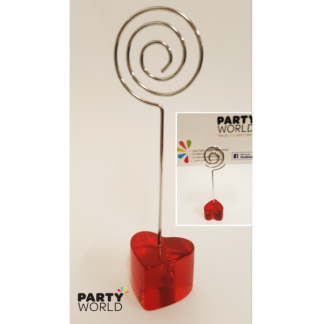Red Heart Spiral Table Card Holder - 1 piece
