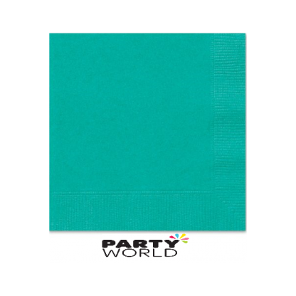 Teal Luncheon Napkins (20)
