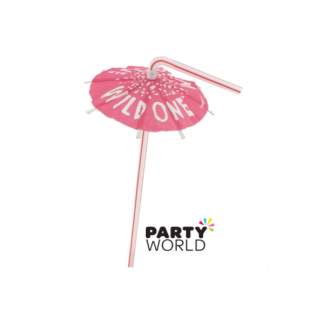 Bachelorette Umbrella Straws - Wild One (5)
