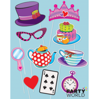 Mad Hatter Tea Party Photo Booth Props (10)
