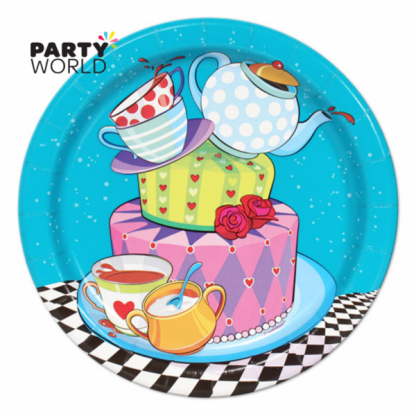 Mad Hatter Tea Party Plate - 7inch (8)