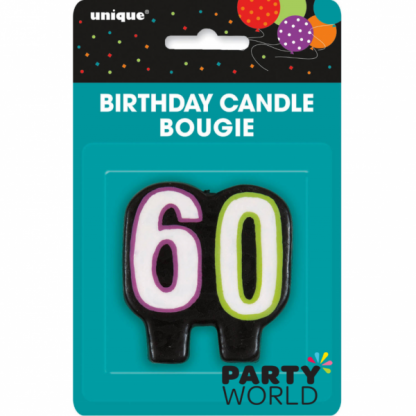 60th Birthday Cheer Candle