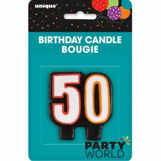 50th Birthday Cheer Candle