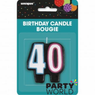 40th Birthday Cheer Candle