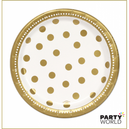 Golden Paper Plates - 7inch (8)