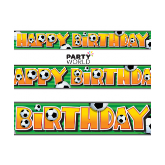 Soccer Party Birthday Foil Banner 12ft