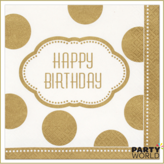 Golden Birthday Luncheon Napkins (16)