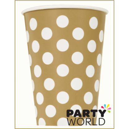 Gold Dot Paper Cups (6)