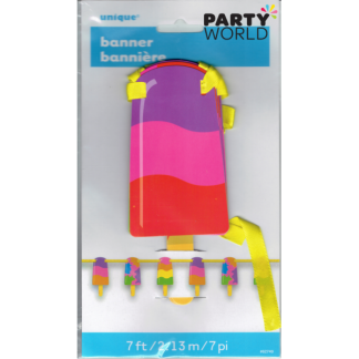 Popsicle Cutout Banner 7ft