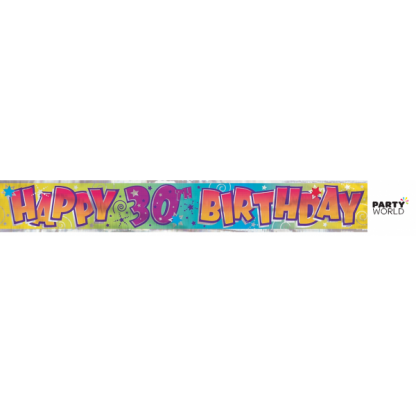 Happy 30th Birthday Foil Banner
