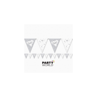 Pearl 30th Anniversary Paper Bunting 3.7 m