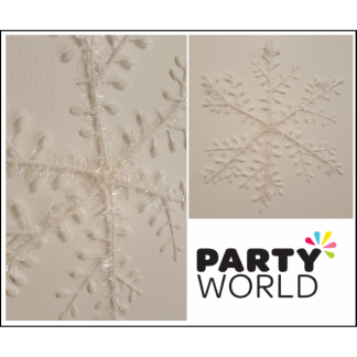 Snowflake with Tinsel - 25.5cm (3)