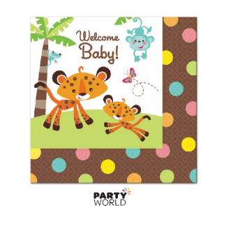 Fisher-Price Baby Jungle Beverage Napkins (16)