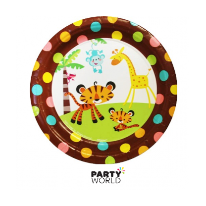 Fisher-Price Baby Jungle Paper Plates 7in (8)