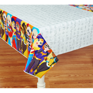 Super Hero Girls Plastic Tablecover